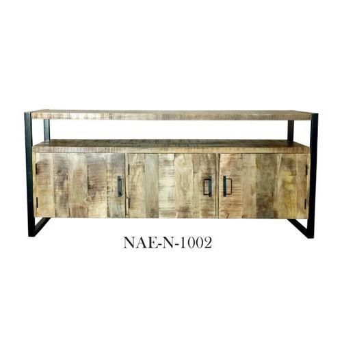 Industrial & vintage Iron metal & mango wood TV Cabinet