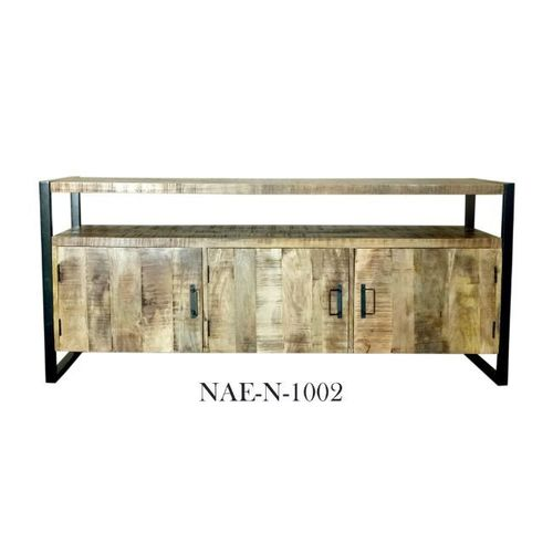 Industrial & vintage Iron metal & mango wood TV Cabinet