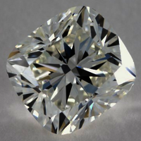 0.55ct Diamond E VS1 IGI Certified Lab Grown HPHT SQUARE CUSHION MODIFIED BRILLIANT CUT TYPE2