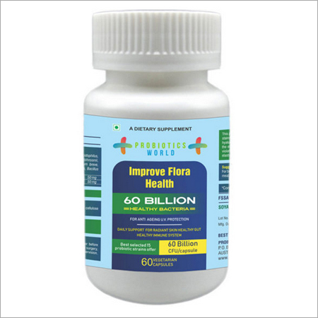 Probiotics for Anti Ageing 60 Billion Live Cultures With Selected 15 Strains