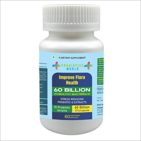 Stress Reducing Probiotics And Extracts 60 Billion Healthy Bacteria With 15 Probiotic Strains
