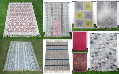 Cotton Printed Rugs & Carpets