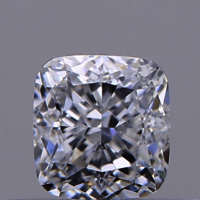 0.57ct Diamond F SI1 IGI Certified Lab Grown HPHT SQUARE CUSHION MODIFIED BRILLIANT CUT TYPE2A