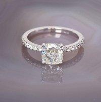 0.69ct Diamond E VS1 IGI Certified Lab Grown HPHT CUSHION MODIFIED BRILLIANT CUT TYPE2