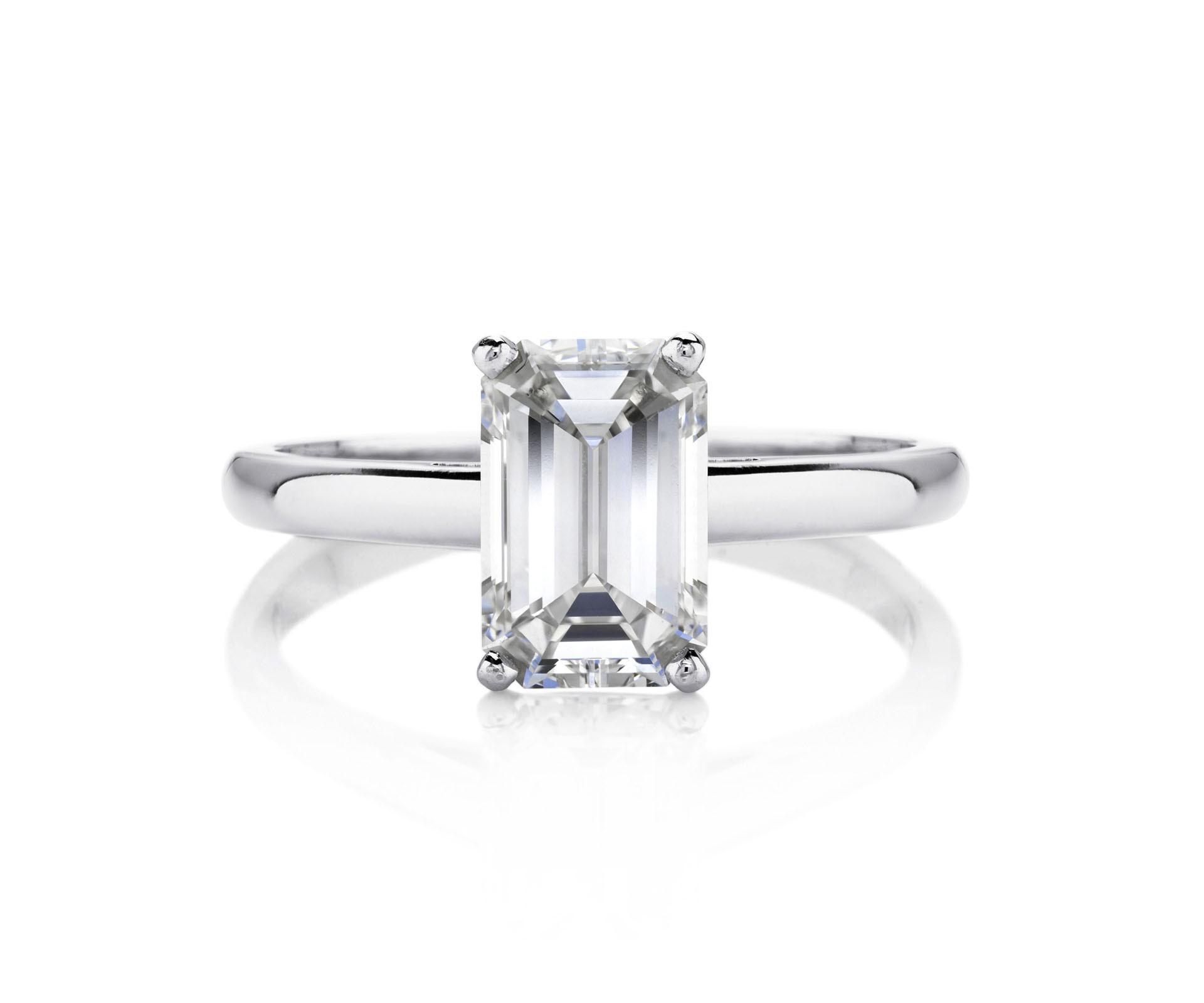 1.54ct Diamond D VVS1 IGI Certified Lab Grown CVD Emerald BRILLIANT CUT TYPE2A