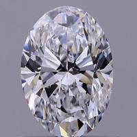 1.01ct Diamond D VS1 IGI Certified Lab Grown HPHT OVAL BRILLIANT CUT TYPE2