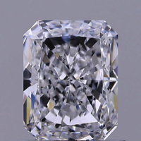 1.04ct Diamond E VS2 IGI Certified Lab Grown CVD Radiant BRILLIANT CUT TYPE2A