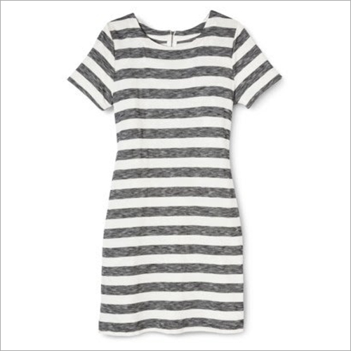 Ladies Long Stripe T-Shirt