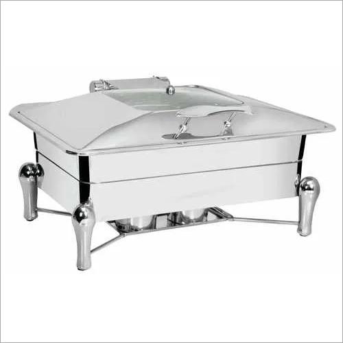Rectangular Chafing Dish.Sleek Legs with Glass Lid