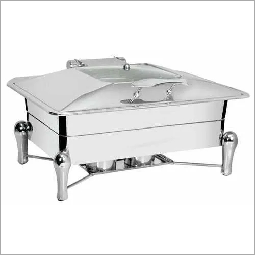 Chafing Dish with Glass Lid 9 ltr. Sleek Stand