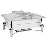 Chafing Dish With Glass Lid 9 Ltr. Sleek Stand - Rs. 8845.00++