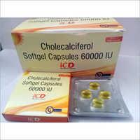 Cholecalciferol Softgel Capsules 60000 IU