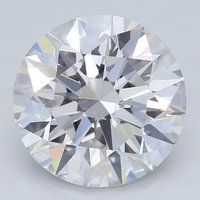 2.01ct Diamond I SI2 IGI Certified Lab Grown CVD ROUND BRILLIANT CUT TYPE2A
