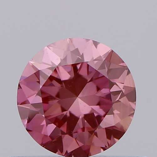 0.51ct Diamond Intense Pink VS2 IGI Certified Lab Grown CVD ROUND BRILLIANT CUT TYPE2A