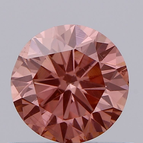 0.66ct Diamond Intense Pink SI1 IGI Certified Lab Grown CVD ROUND BRILLIANT CUT TYPE2A