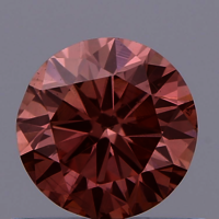 0.66ct Diamond Intense Pink SI1 IGI Certified Lab Grown CVD ROUND BRILLIANT CUT TYPE2A