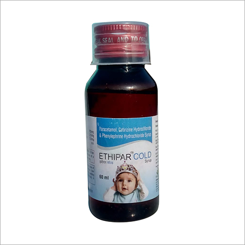 60 ml Paracetamol Cetirizine Hydrochloride Syrup
