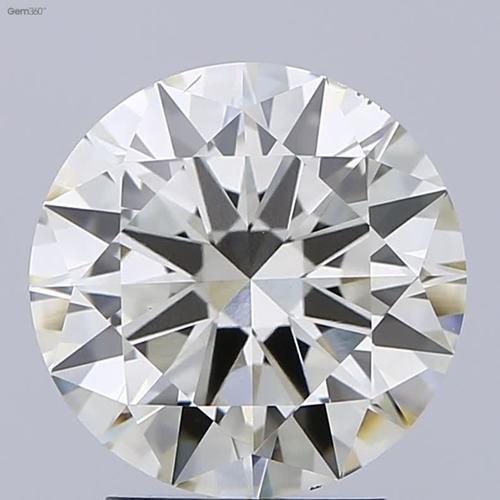 3.00ct Diamond K VS2 IGI Certified Lab Grown CVD ROUND BRILLIANT CUT TYPE2A