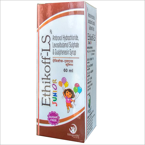 60 ml Ambroxol Hydrochloride Levosalbutamol Suilphate and Guaiphenesin Syrup