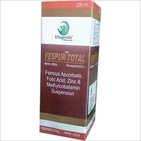 200 ml Ferrous Ascorbate Folic Acid Zinc and Methylcoballamin Suspension