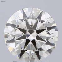 3.00ct Diamond K SI1 IGI Certified Lab Grown CVD ROUND BRILLIANT CUT TYPE2A