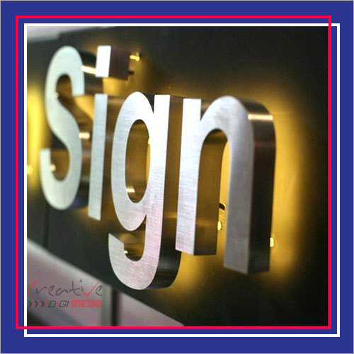 SS Glow Sign Board
