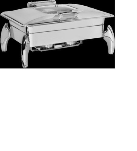 Rectangular Chafing Dish-Fancy Legs With Glass Lid