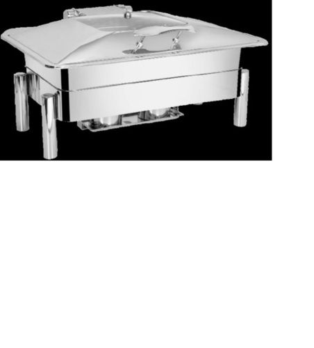 Rectangular Chafing Dish-Pipe Legs with Glass Lids