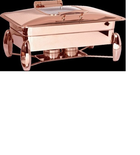 Rectangular Chafing Dish Full Rose Gold With Glass Lid