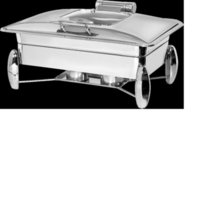 Rectangular Chafing Dish-Diamond Legs with Glass lid