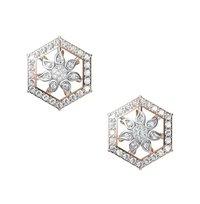 Diamond Earrings TCW 1.000 14K gold 6.5 gm