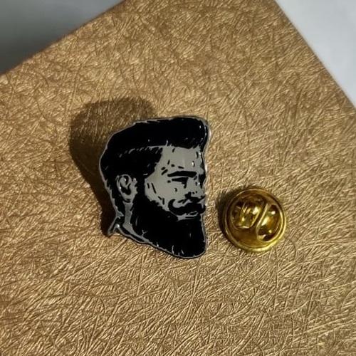 Beardo lapel pin