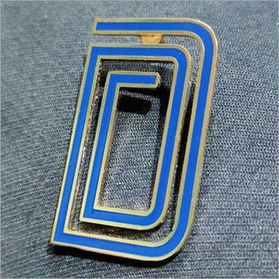 D Letter Lapel Pin