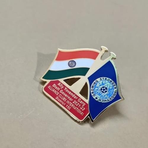 Alliance club flag lapel pin