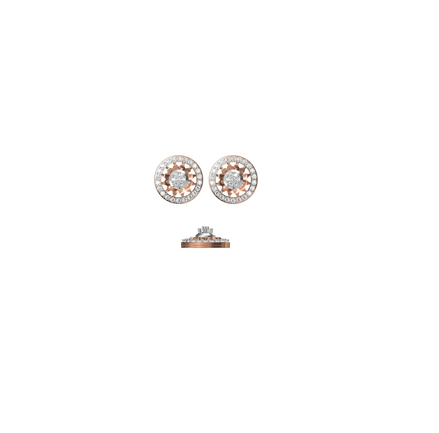 Diamond Earrings TCW 1.011 14K gold 5.8 gm