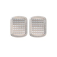 Diamond Earrings TCW 1.27 14K gold 6 gm