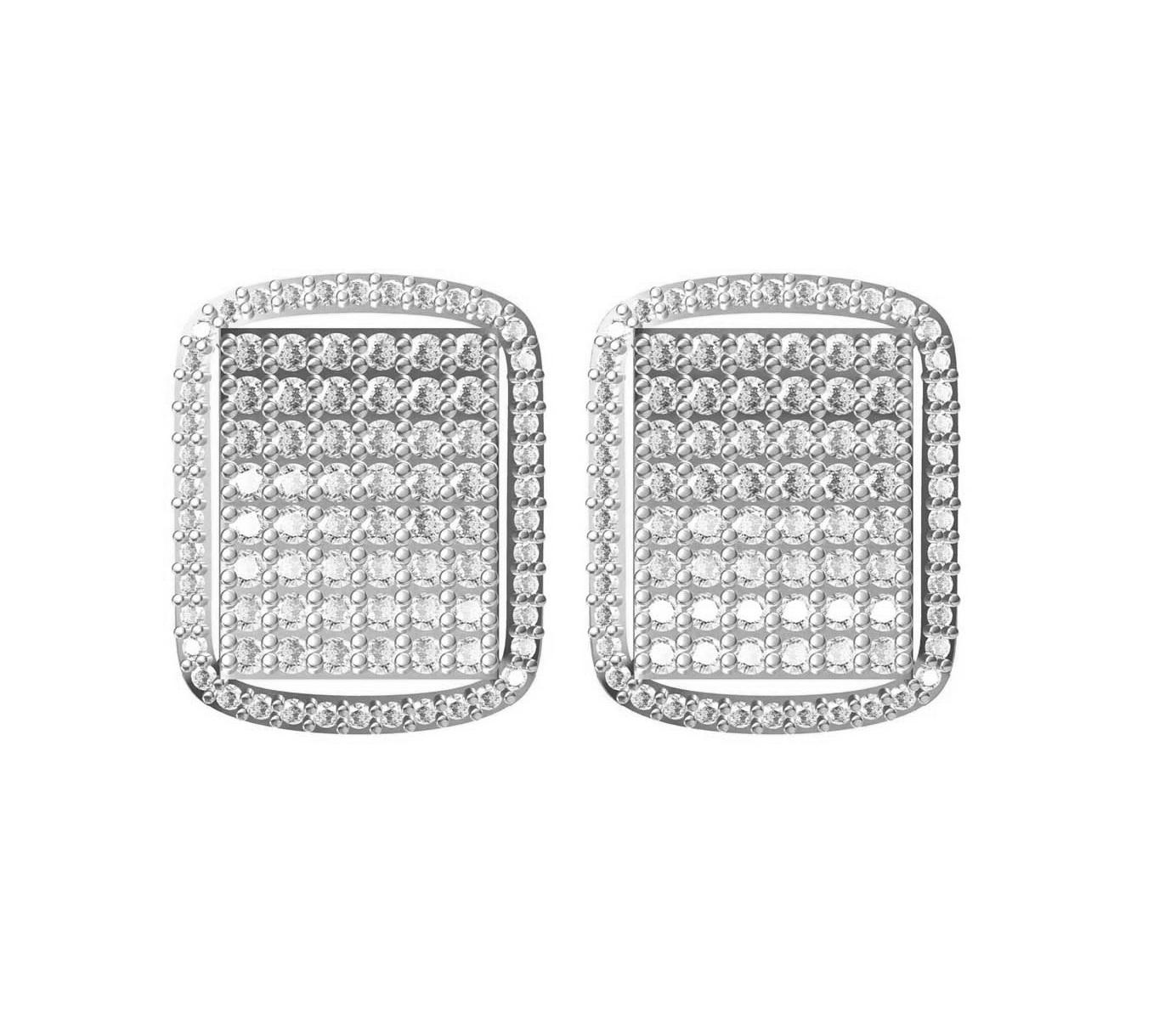 Diamond Earrings TCW 1.27 14K gold 6 gm