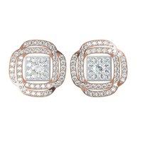 Diamond Earrings TCW 1.246 14K gold 5.32 gm