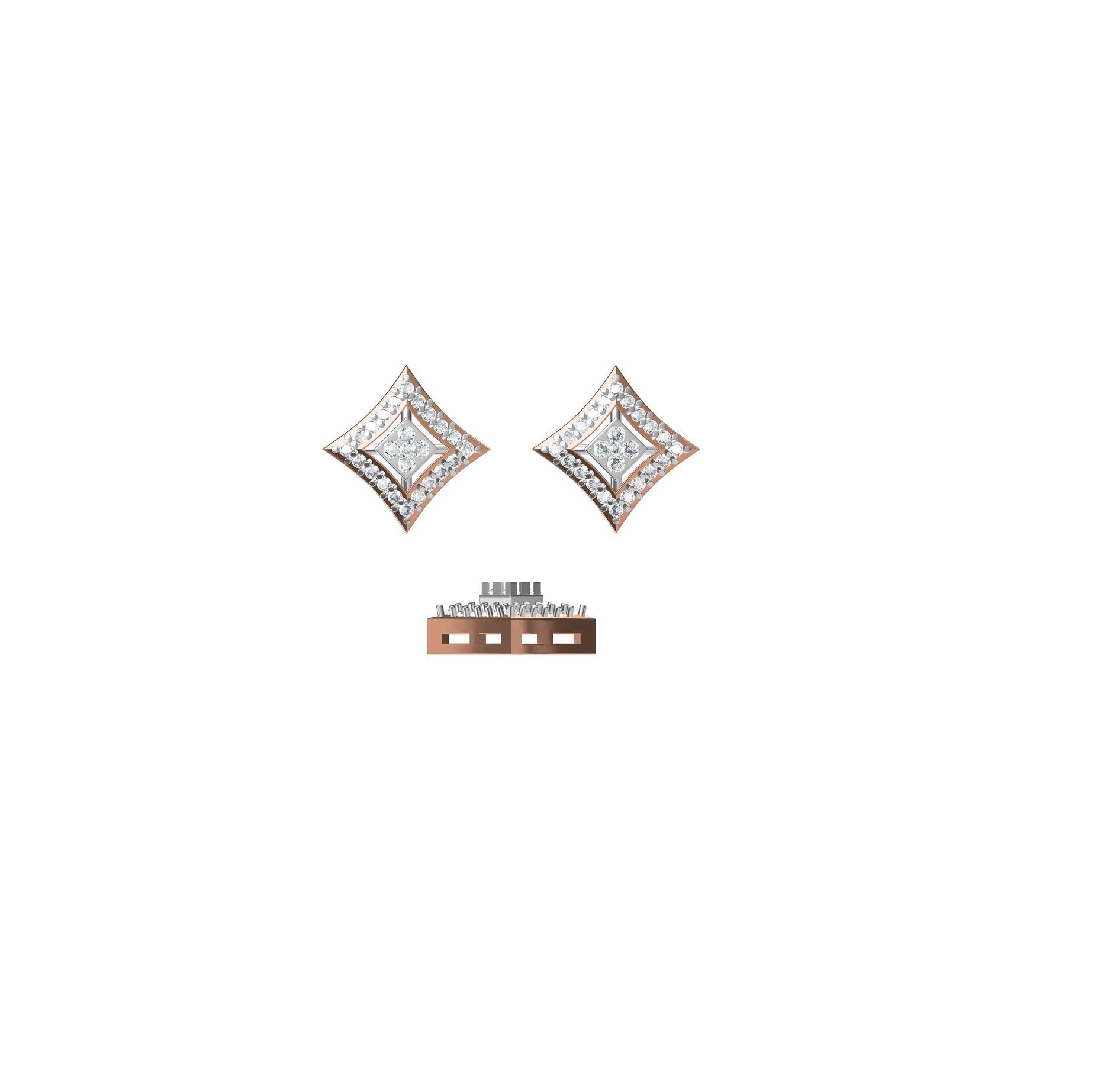 Diamond Earrings TCW 0.688 14K gold 4.8 gm