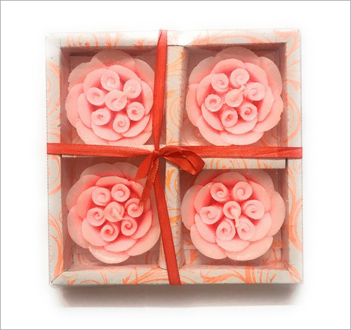 4Pcs Flower Floating Candles Set