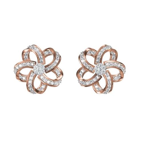 Diamond Earrings TCW 0.964 14K gold 5.8 gm
