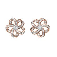 Diamond Earrings TCW 0.964 14K gold 5.8 gm
