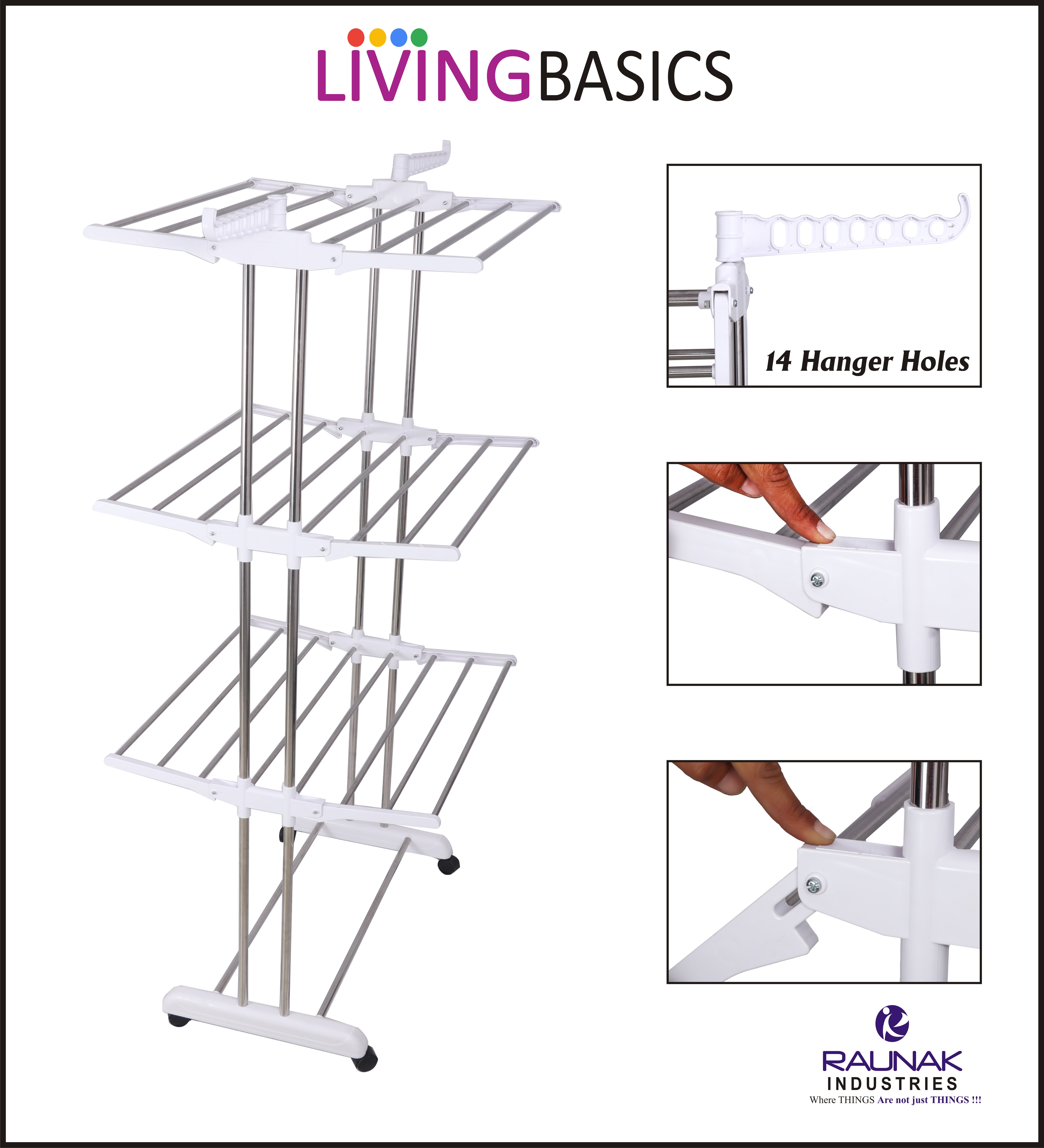24 Rods Cloth Stand