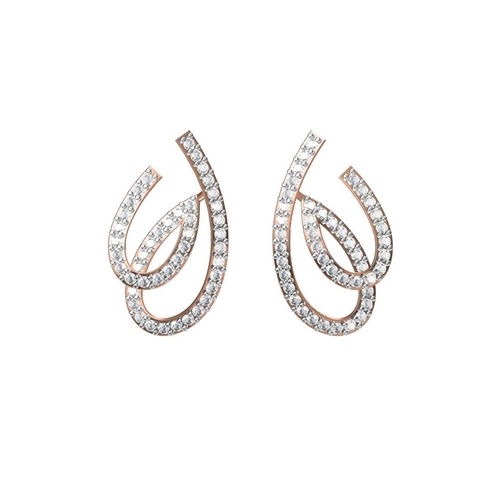 Diamond EarringsTCW 0.880 14K gold 3.2 gm
