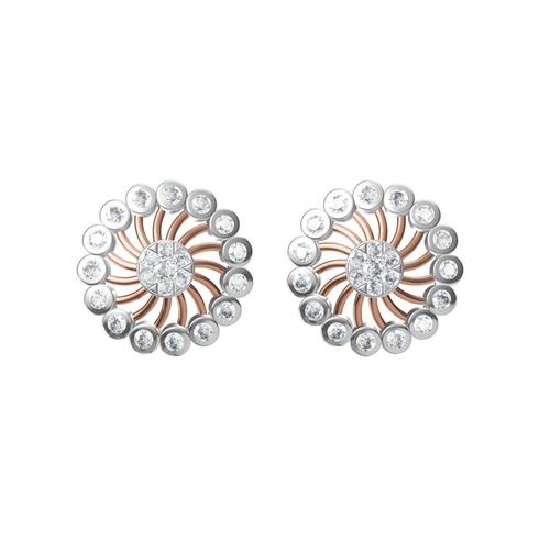 Diamond Earrings TCW 1.264 14K gold 6.6 gm
