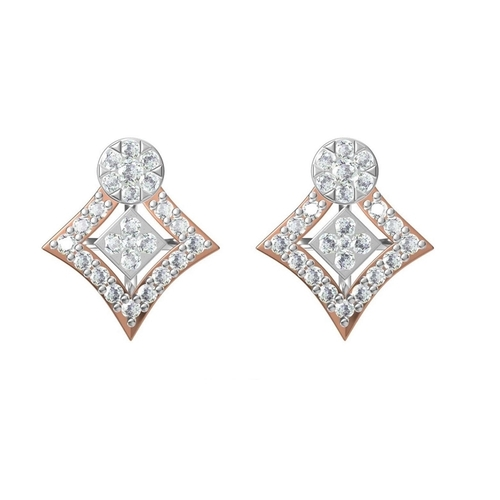 Diamond Earrings TCW 0.542 14K gold 1.6 gm