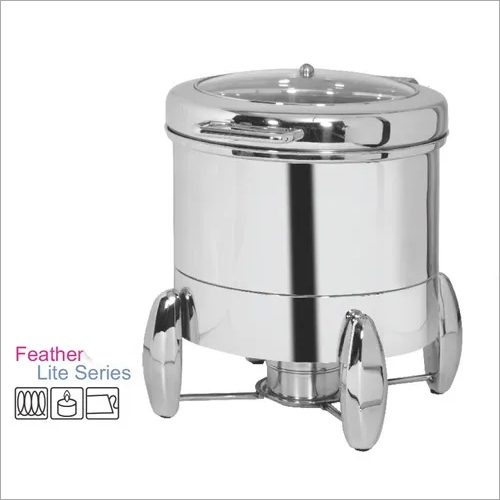 Soup Warmer Chafing Dish with Feather Touch Hinge Premium