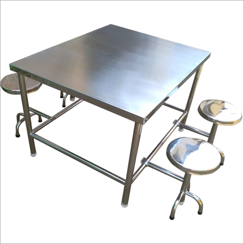 4 Seater SS Canteen Table