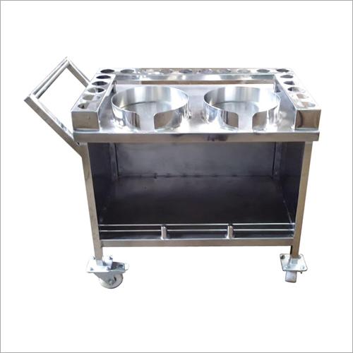 Stainless Steel Tea Trolley