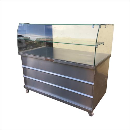 Transparent Glass Display Counter